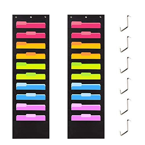 Aufbewahrungsfach Diagramm Wand aufhängen Datei Ordner Tasche Diagramm Cascading Organizer für Büro, Schule oder Zuhause 20 Pockets