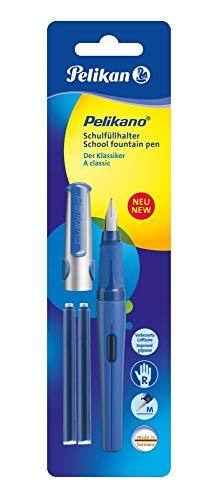 Pelikan Pelikano P480 M 971218 - Pluma escolar (incluye 2 recargas de tinta azul), color azul