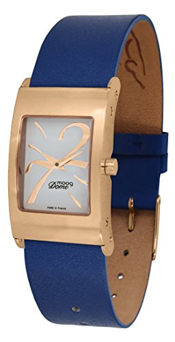Moog Paris Dome Women's Watch with White Dial, Blue Strap in Genuine Leather - M41661-409