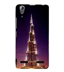 PrintVisa Designer Back Case Cover for Lenovo A6000 Plus :: Lenovo A6000+ :: Lenovo A6000 (Night View Of A Skyscraper)