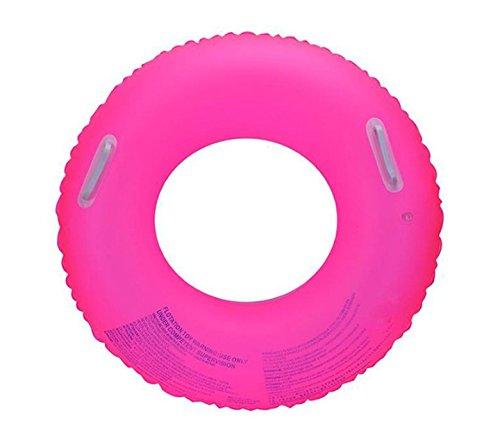Llcp anello di nuoto fluorescente di cristallo del pvc, sport dell'acqua dell'adulto fornisce i giri della spiaggia, anello gonfiabile adulto di nuoto,pink