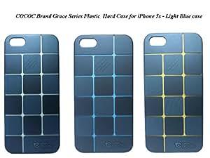 COCOC Brand Grace Series Plastic Hard Case for iPhone 5s - Light Blue case