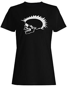 ESQUELÉTICO HAPPY HALLOWEEN HEAD PUNK FUNNY NOVELTY NUEVO camiseta de las mujeres -k29f