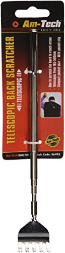 TELESCOPIC PEN STYLE BACK SCRATCHER WITH CLIP