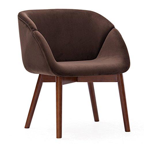 ERRU-Stühle Nordic Massivholz Esszimmerstühle Wohnzimmer Büro Kaffee Sofa Freizeit Rückenlehne Stühle (60,5 * 59 * 78CM, Farbe optional) ( Farbe : Rötlich-braun , größe : 6 Pieces )