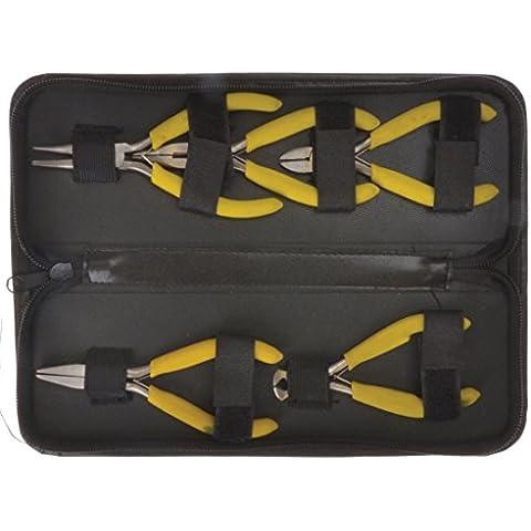 Blue Spot Tools - Set di mini pinze in astuccio di pelle, 5 pezzi