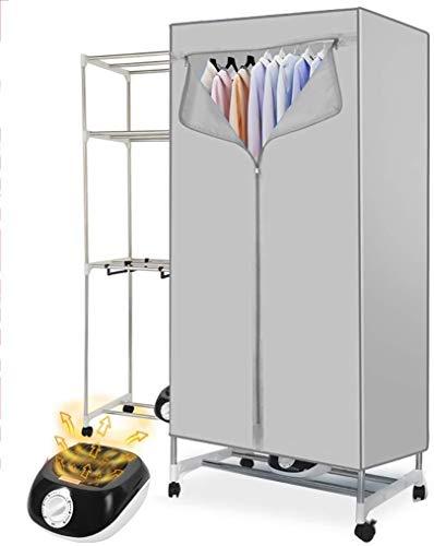 LY Tragbarer Wäschetrockner DSL Elektroschnelltrocknende Silent-Edelstahl-3-Schicht-großer Raum Automatische Timer for Apartment Hotel Innen Last 15kg (Farbe : Grey)