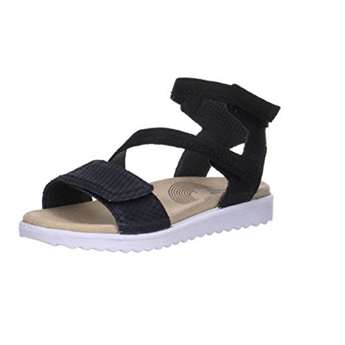 Legero6-00701-00 Savona - Chaussures Avec Bride À La Cheville Femme Noir (noir)