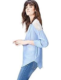 FIND Damen Bluse mit Stickerei