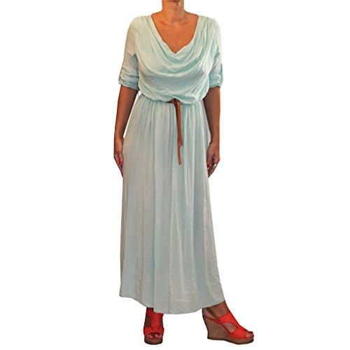 Waooh - Kleid Ausschnitt Und Bund Fallen Cunia Grün