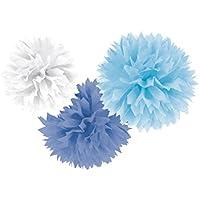 AMSCAN - Decorazioni in Morbido Tessuto, 40,6 cm, Blu