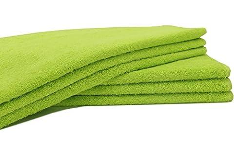 ZOLLNER® 6er-Set Handtücher in flauschiger Frotteequalität apfelgrün 50x100 cm aus
