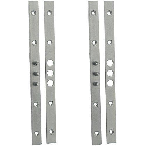 BASI® 2 Stück Bändersicherung Bandsicherung Türsicherung Aushebesicherung Scharnierseitensicherung