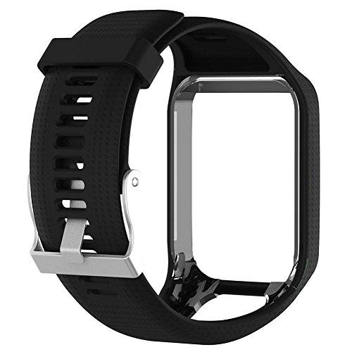 Silicone Bracelet de remplacement Bracelet de montre 25cm de long pour TomTom 2/3 Série GPS Montre