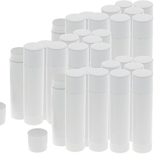 Lippenpflegestifte zum Selbstbefüllen, Kosmetex Lippenstifthülsen Lippenstift Pflege Hülse leer, 30 Stück