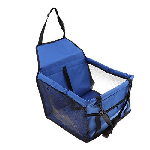 perfk Pet Seggiolino Auto Cover Cintura di Sicurezza Antigraffio Non-slip Pieghevole Carrier Sacchetto - Blu