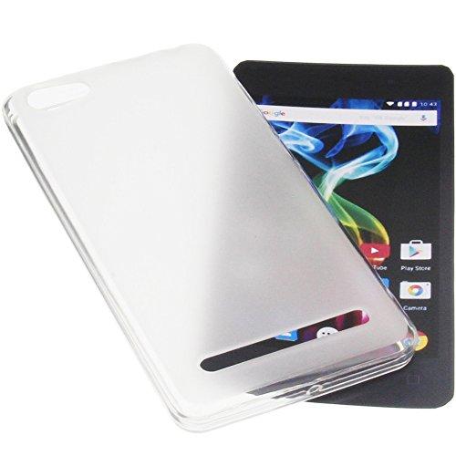 foto-kontor Tasche für Archos 45d Platinum Gummi TPU Schutz Handytasche transparent weiß