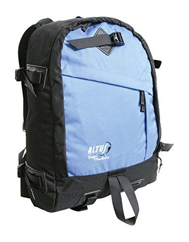 Altus 13502017 - Mochila esquí montaña, Unisex, Color Negro/Azul, Talla única