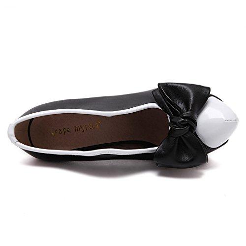 YE Damen High Heels Plateau Stiletto Vintage Stiefeletten Elegant Ankle Boots mit Schleife Party Schuhe Schwarz