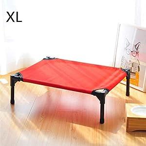 FVCDWSA Erhöhtes Haustier-Bett, zusammengebautes tragbares im Freien wildes Nahrung-Hundebett, rostfreies Stahlrohr-haltbares Oxford-Tuch abnehmbar und waschbar,XL