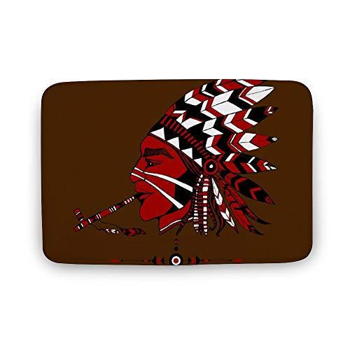 Kostüm Indischen Ethnischen - Sitear, indischer Stil im ethnischen Kostüm, eine Pfeife des Friedens, personalisierbar, Korallen-Samt, weich, langlebig, rutschfest, saugfähig, Korallenvlies, Color1, 50 * 75 * 0.8cm