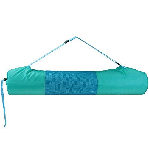 Sac de transport pour tapis de yoga DEA pour tapis < 61 cm large et 11.5 cm diamétre enroulé Pilates Fitness , Couleur:Fresh Turquoise