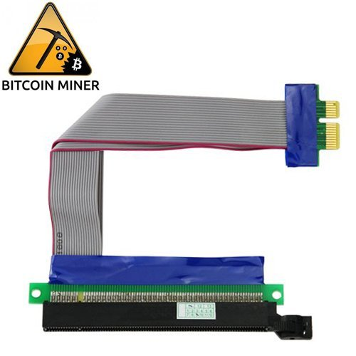 PCI-E Express 16X a 1X Riser scheda adattatore Flex Prolunga Cavo - Flex Riser