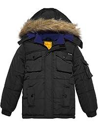 d4b15cc7 Wantdo Men's Winter Padded Coat Casual Faux Fur Hooded Qulited Parka Jacket