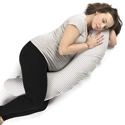 Mutterschaft Kissen, Schwangerschaftskissen und Stillkissen aus Baumwolle (3 in 1) für Schwangere Frauen - Garantiert ohne Chemikalien und in Europa hergestellt - Körperkissen Geräuschlos und Bequem