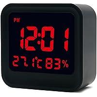 EgBert Hc-20 Digital De Alta Precisión Termómetro Higrómetro Reloj De Alarma con Pantalla LCD