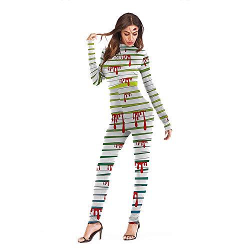 Halloween-Kostüm übertrieben Halloween-Kostüm mit Langen Ärmeln Overalls Body Festivals Festival Geschenk für Frauen(# 5 ()
