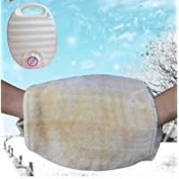 Rosetreee Hot water bottle Soft Hand Warmer Hot Water Bag (Color : White)