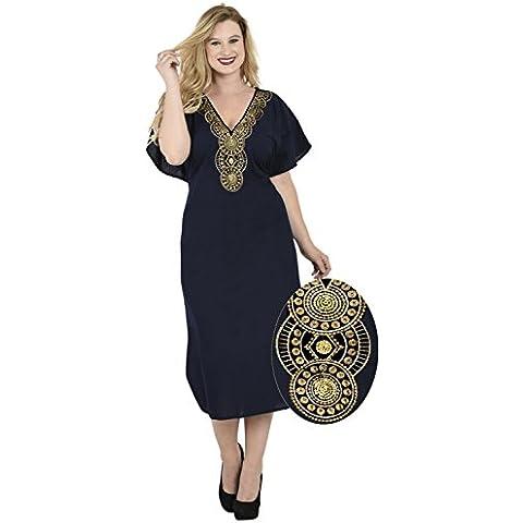 La Leela túnica Seda artificial primeras mujeres del vestido caftán bordado encubrimiento bikiní