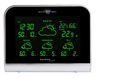 WD 2900 - satellitengestützte Wetterstation mit 4 Tagesvorhersage und LED - Farbdisplay, modernes Design, Besser als jedes Thermometer und mindestens so gut wie der deutsche Wetterbericht