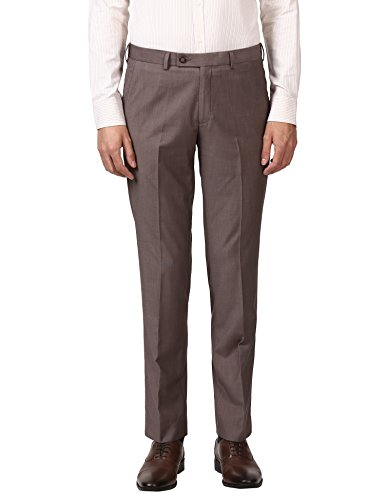 Park Avenue Medium Brown Smart Fit Rayon Blend Trouser (PMTX04968-O381F082)