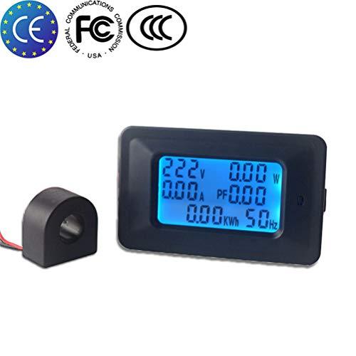 KETOTEK Amperemeter Digital Voltmeter AC 100A Din Rail Multimeter LCD Leistungsmesser Amperemeter Digital Multimeter110 V~250V Volt Ampere LCD Voltmeter Tester (100A) - Ac Voltmeter