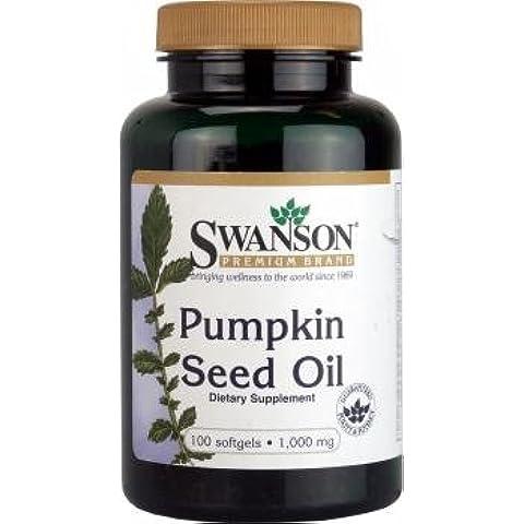 Swanson Pumpkin Seed Oil 1,000mg, 100 Softgels