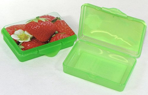2X Confezione da  pezzi Rosso hoset Funbox Mini 0,1LTR.Olive Box feta Box, ca.10X 7X 2,5cm Verde erdbee