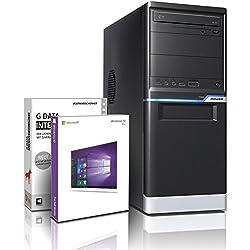 Shinobee PC Gamer/Multimédia (Processeur Intel i5 4570 4 x 3.6GHz Turbo -Mémoire RAM 8Go- SSD 256Go- Intel HD 4600 DP/DVI/VGA DirectX12 - USB3- Lecteur/graveur DVD - 6 Ports USB- Win 10 64 Bit) #5979