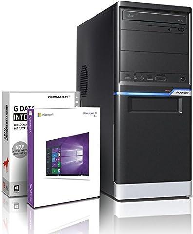 shinobee FX 4130 4x3900 MHz Quad Gaming-PC - nVidia Geforce GT1030 - 8GB DDR3 - 500 GB HDD - Windows 10 - DVD±RW - Gamer PC - Gaming Computer - Desktop PC - Rechner #5401