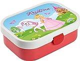 Mein Zwergenland Brotdose Mepal Campus inkl. Bento Box und Gabel mit eigenem Namen Rose, Prinzessin
