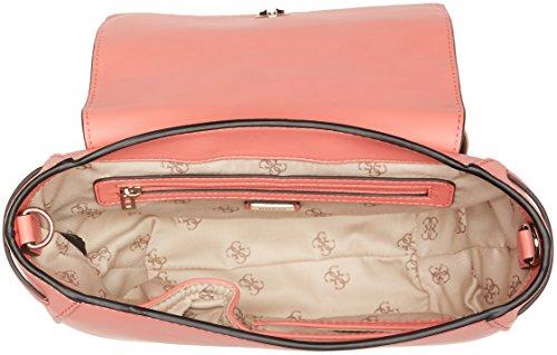 Guess Hobo, Borsa a Tracolla Donna, 7.5x11x27.5 cm (W x H x L) Arancione (Coral)