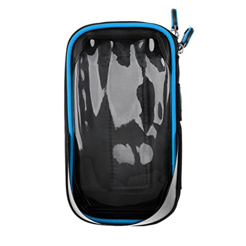 Gazechimp 2 in 1 Fahrrad Lenker Telefonhalterung Handy/GPS (6 Zoll) Tasche -Fahrrad Zubehör Blau