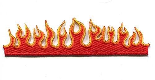 Flammen Fire bestickt Eisen/Nähen auf Patch Badge Jeans T-Shirt Hat Cap Tasche Coat Aufnäher