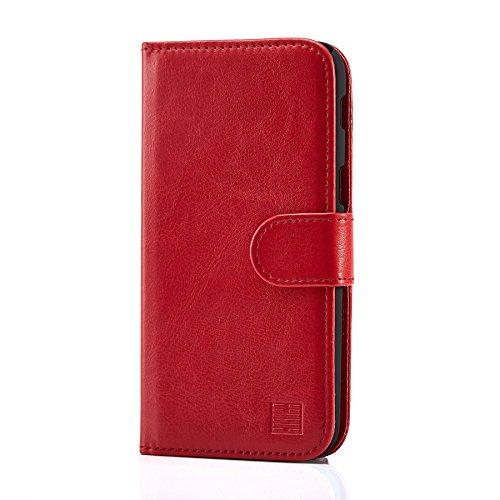 32nd Custodia a Portafoglio in Pelle PU per Samsung Galaxy A5 (2017), Case Realizzato in Pelle Sintetica con Diversi Comparti e Chiusura Magnetica - Rosso