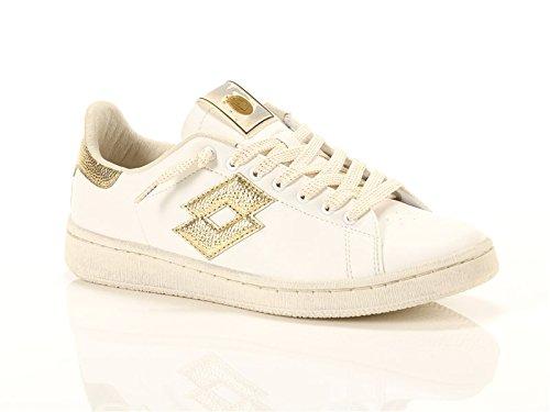 Lotto Leggenda, Donna, Autograph White Gold Star, Pelle, Sneakers, Bianco, 38 EU