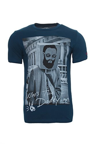 JACK & JONES -  T-shirt - Collo a U  - Maniche corte  - Uomo Poseidon