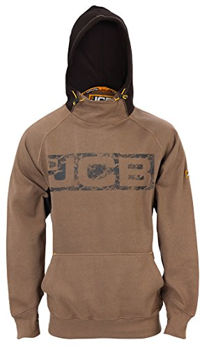 JCB Horton Hoodie Sand/Black (Sizes S-XXL) Work Hooded Jumper