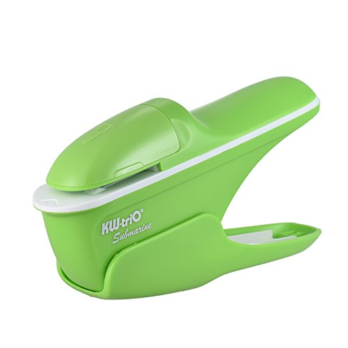 aibecy Hand Safe Hefter ohne Heftklammern/- 7Blatt Kapazität für Papier ohne Heftklammern Bindung Business Heftung Shop Schule Büro grün (Hand-hefter)
