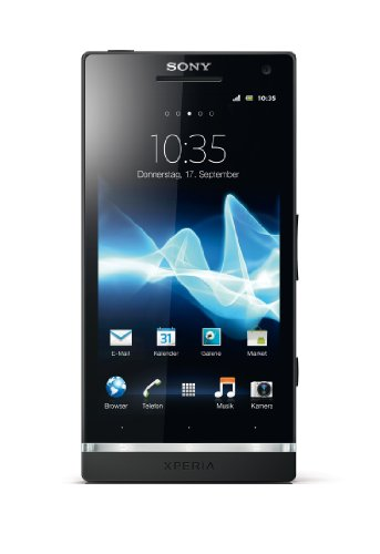 Sony Xperia S Smartphone (10,9 cm (4,3 Zoll) HD-Display, 12 Megapixel Kamera, 1,5GHz Dual-Core-Prozessor, NFC, Android 2.3) schwarz